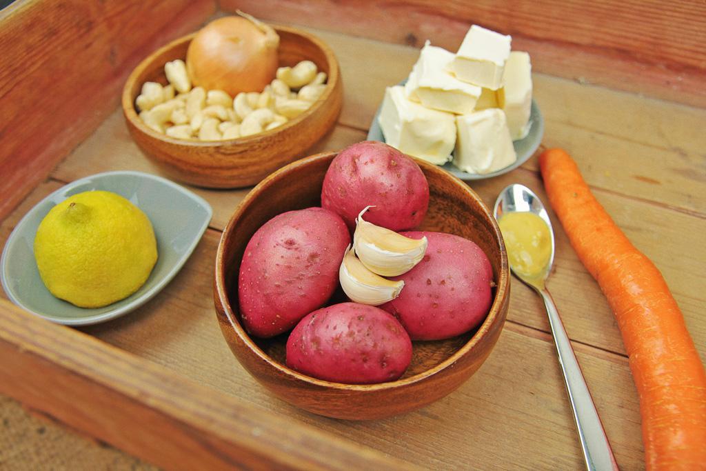 Zutaten Käsesauce für Gratin, Nachos, Mac n Cheese - veganer-Käse - kohlundkarma