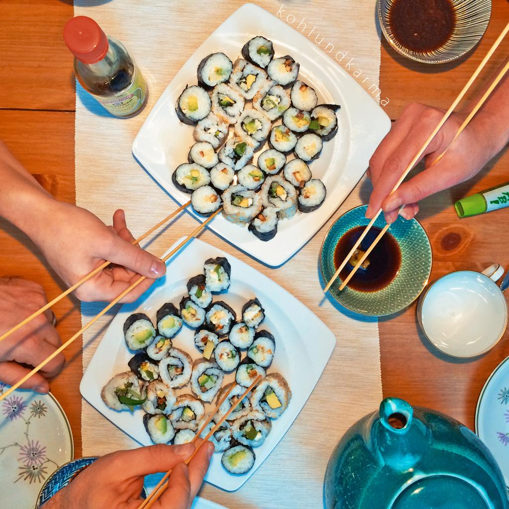 Veganes Sushi Rezept - einfach selber machen | kohlundkarma