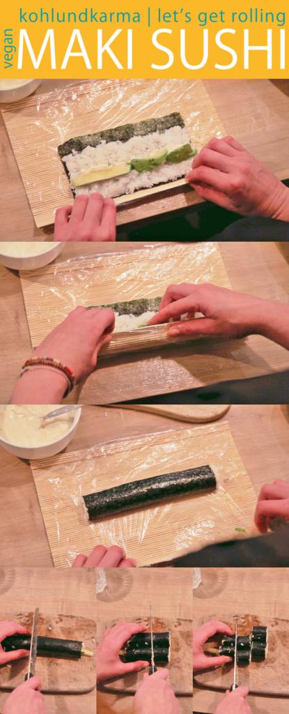 Veganes Sushi Rezept - einfach selber machen - lets get rolling