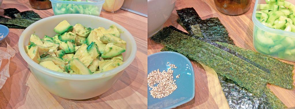 Onigiri Rezept mit Füllung vegan - Zutaten