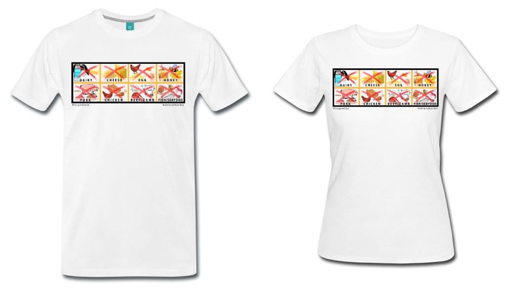 T-Shirt Übersicht - vegane Zeigetafel - kohlundkarma - kohl und karma