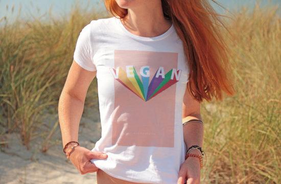 Vegan Rainbow T-Shirt - kohlundkarma