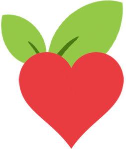 vegan Herz - vegane Zeigetafel - kohlundkarma