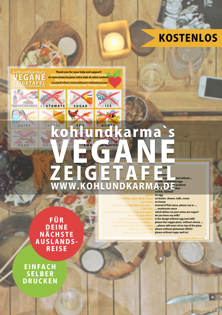 vegane Zeigetafel - kostenlos zum selber drucken - kohlundkarma kohl und karma