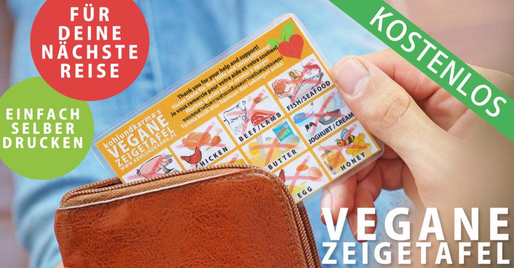 vegane Zeigetafel im Taschenformat