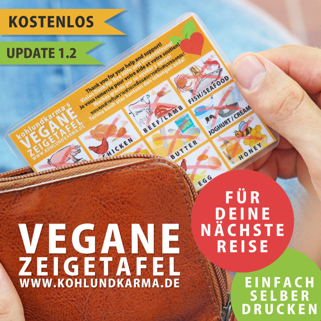 vegane Zeigetafel im Taschenformat - kohlundkarma